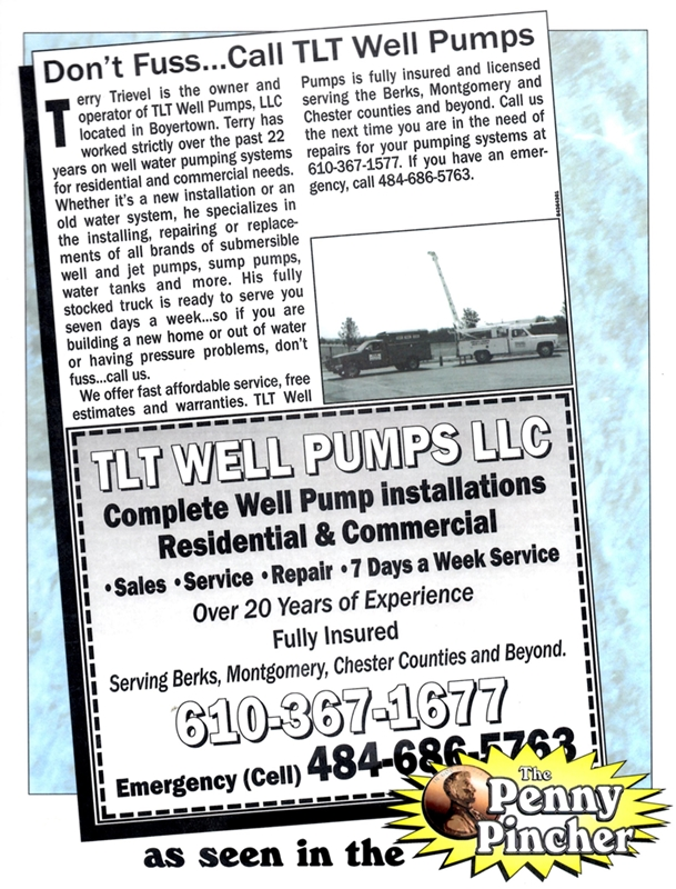 TLT Well Pumps in Penny Pincher